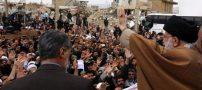حضور صمیمانه رهبر انقلاب در جمع مردم زلزله دیده کرمانشاه