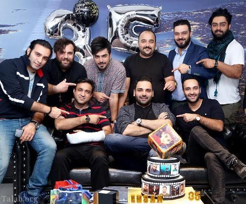 جشن تولد احسان علیخانی در کنار دوستانش (عکس)