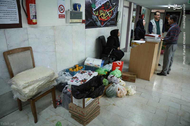 کمک تهرانی ها به مردم زلزله زده کرمانشاه (+تصاویر)
