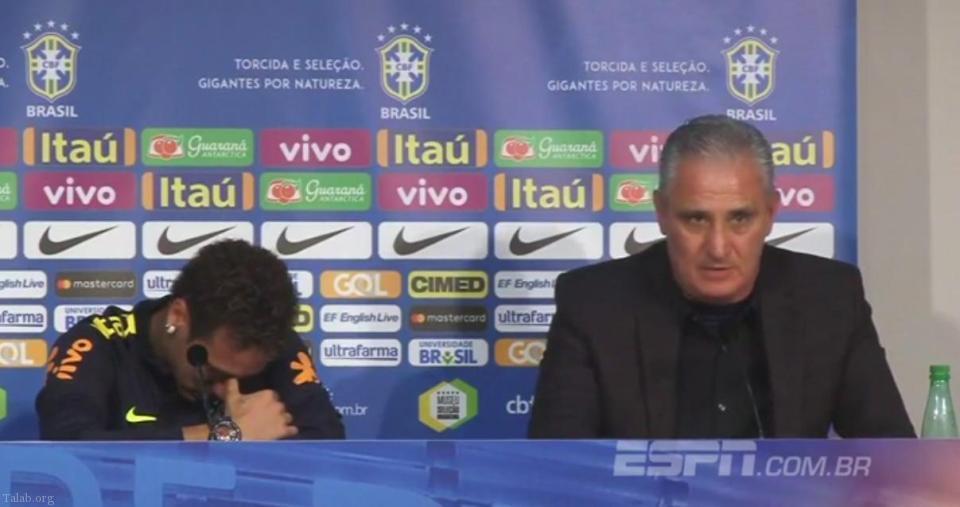 بغض و گریه نیمار در نشست خبری تیم ملی برزیل (عکس)