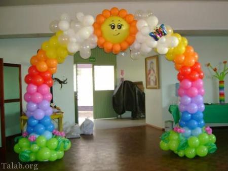 تزیین دیدنی و زیبای بادکنک های مخصوص جشن ها