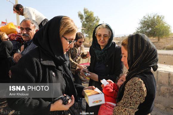 حرف های غم انگیز بازیگران زن از بازدید مناطق زلزله زده