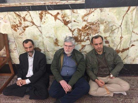 بست نشینی تیم احمدی نژاد در حرم عبدالعظیم (+تصاویر)
