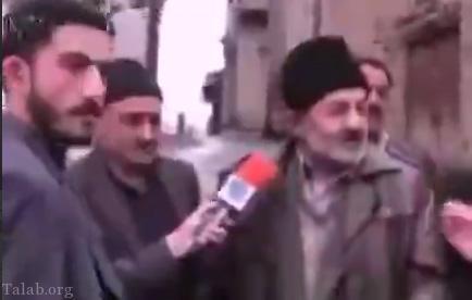 سوتی جالب پیرمرد جلوی دوربین تلویزیون (کلیپ)