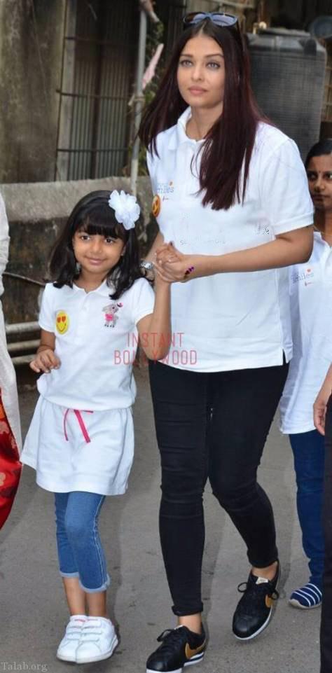 تیپ جدید آیشواریا رای در جشن تولد دخترش (عکس)