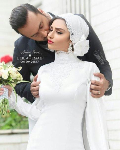 عکس های لو رفته از عروسی هانیه غلامی و همسرش