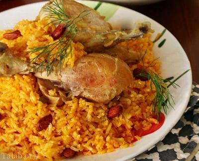 آموزش پخت غذای مدیترانه ای کبسه ی مرغ لبنانی