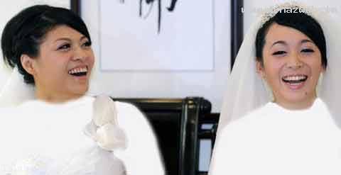 دو دختر همجنس باز که برای اولین بار در تایوان عقد کردند (عکس)