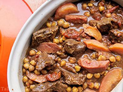 آموزش پخت خورشت طاجین گوشت به همراه به کشور مراکشی