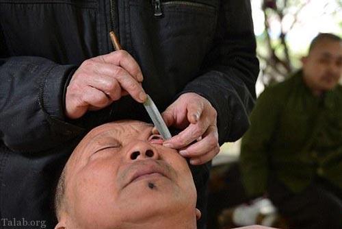 تصاویر ترسناک از کار عجیب آرایشگران چینی