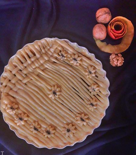 طرز پخت نان سیب گردو با طعم فوق العاده دارچین