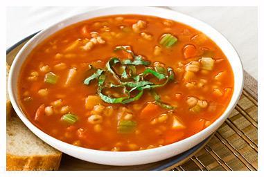اموزش تهیه سوپ قارچ و جو پرک به روش ساده