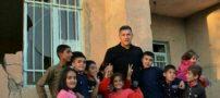 علی دایی به مناطق زلزله زده رفت (+ فیلم )