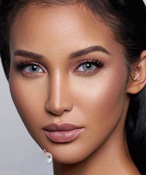 خاص ترین آرایش های صورت به شکل برنزه 2018