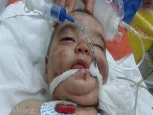 پدر شیطان صفتی که کودک دو ساله اش را کتک زد (عکس)
