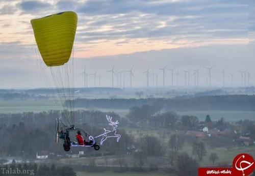 بابانوئل در آسمان آلمان (عکس)
