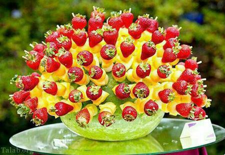 ایده هایی جالب برای میوه آرایی شب یلدا