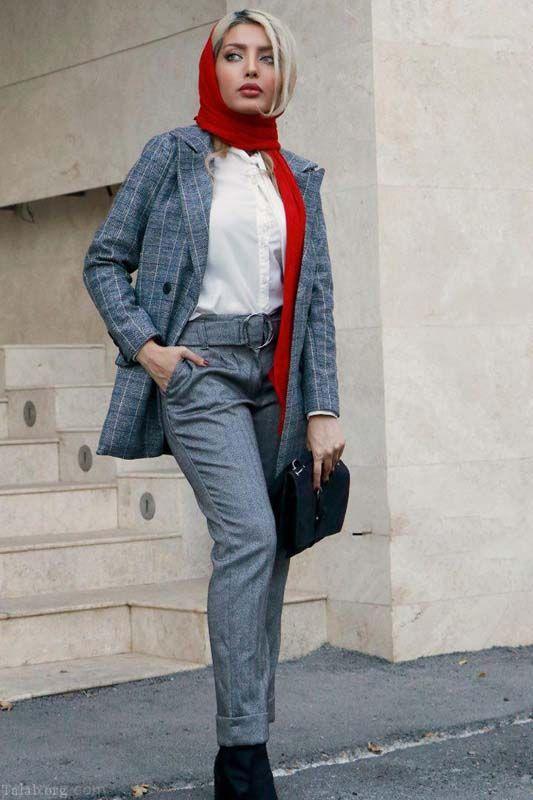 انواع جدیدترین مدل مانتوهای بلند در برندهای ایرانی شیک