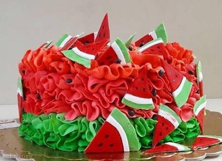 کیک شب یلدا – کیک هندوانه ای