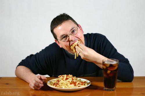 عوارض سریع غذا خوردن