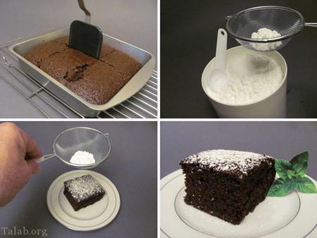 آموزش تهیه کیک شکلاتی بدون تخم مرغ