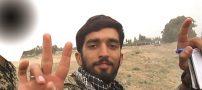 تصاویری از نصب سنگ شهید حججی در مزارش
