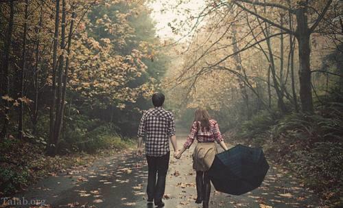 تصاویر بارون پاییزی عاشقانه