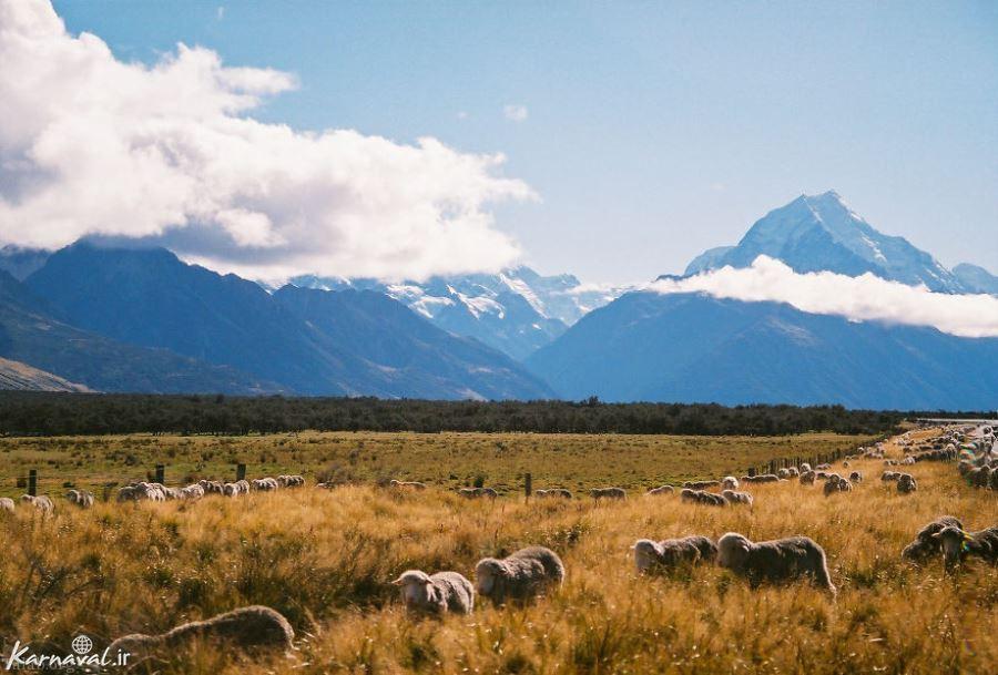 تصاویری دیدنی از کوه آتشفشان تاراناکی در نیوزلند