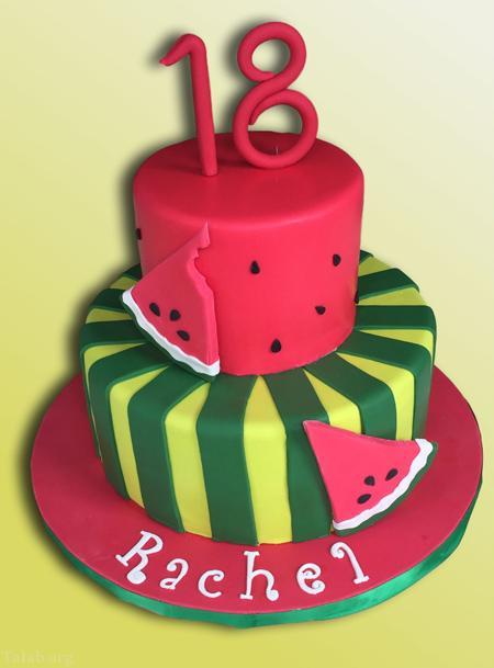 کیک شب یلدا - کیک هندوانه ای