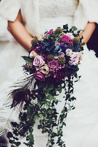 مدل های دسته گل عروس نگین دار ایرانی 99 - 2020