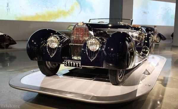 اتومبیل بوگاتی محمدرضا شاه پهلوی + سرنوشت بوگاتی شاه