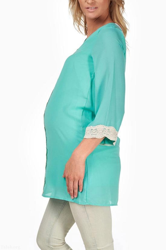 مدل لباس بارداری مجلسی 2021 طرح ترکی