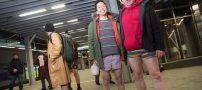 روز جهانی مترو بدون شلوار !+ عکس