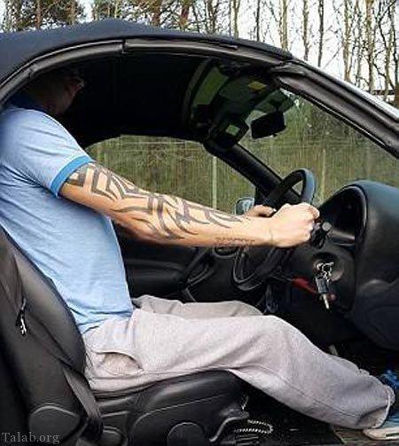 اتفاق جالب در حین رانندگی (+تصاویر)