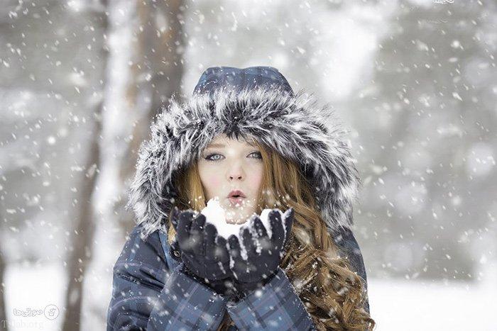عکس نوشته عاشقانه روزهای برفی | عکس پروفایل برفی زمستانی
