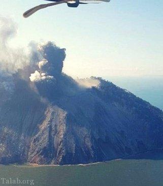 گزارشی از فعال شدن کوه آتشفشان پاپوآ گینهنو