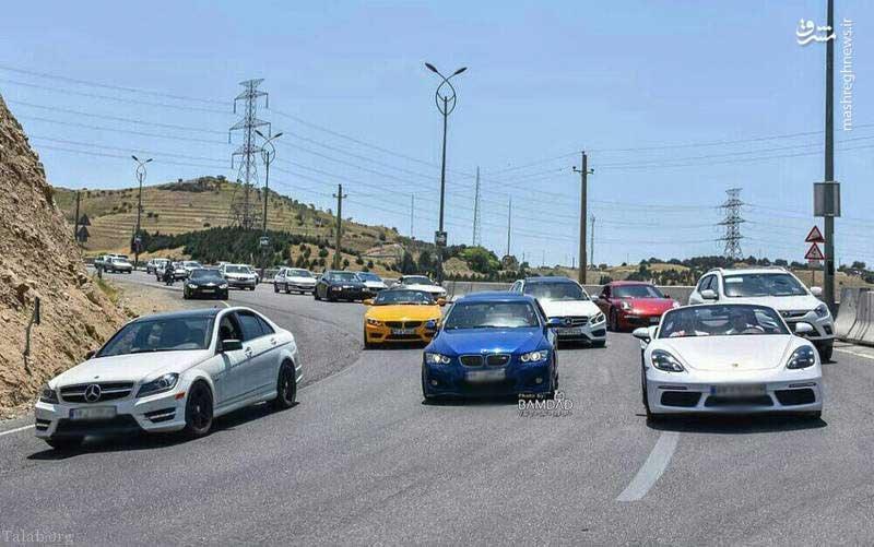 ترافیک خودروهای لاکچری در تهران (+عکس)