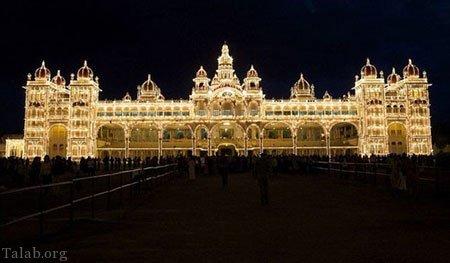 کاخ تاریخی و بسیار دیدنی میسور در هند (+تصاویر)