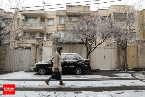 عکس بارش برف در نصف تهران !