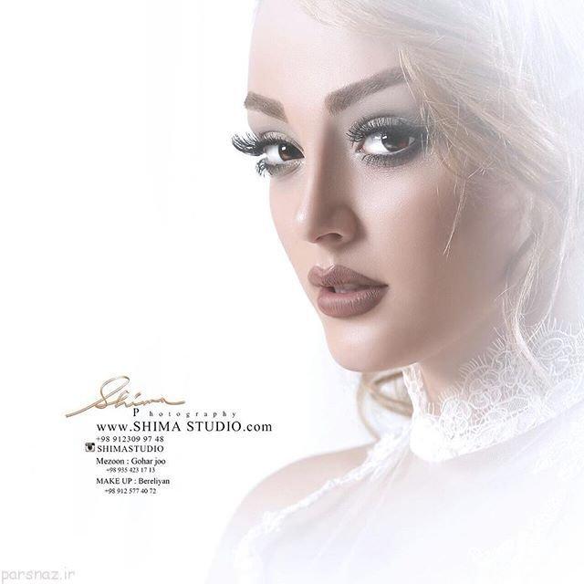 جدیدترین مدل های آرایش عروس و تاج و شینیون عروس 97 - 2018