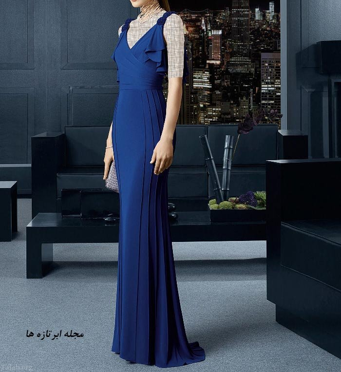 مدل لباس مجلسی گیپور بلند جوان پسند 97 - 2018