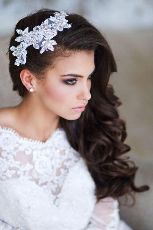 مدل شینیون مو عروس ایرانی و مدل مو باز و بسته عروس تاج دار (99)