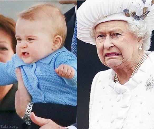ژست جالب ملکه الیزابت در بریتانیا
