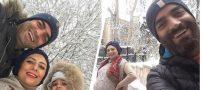 عکس های بازیگران و هنرمندان در برف زیبای زمستانی تهران