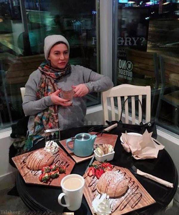 فریبا نادری جهت وضع حمل به کانادا سفر کرد (عکس)