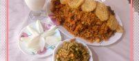 طرز تهیه لوبیا پلو با گوشت و ته دیگ سیب زمینی کنجدی + کلیپ