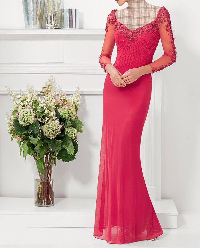 مدل لباس مجلسی گیپور بلند جوان پسند 97 – 2018