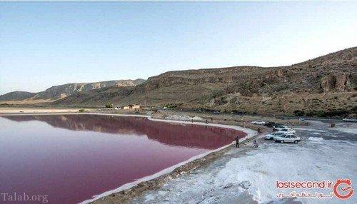 تصاویری از دریاچه خونی در شیراز