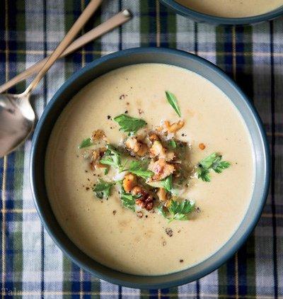 آموزش طرز تهیه سوپ گردو و خامه (سوپ زمستانی)