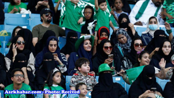 حضور زنان عربستانی برای نخستین بار در ورزشگاه ها (+تصاویر)